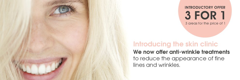 3 for 1 offer on anti-wrinkle treatments botox